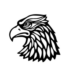Eagle head msacot isolated on white background vector
