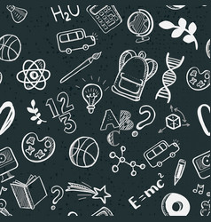 Education supplies doodle frame vector