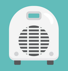 Electric fan heater flat icon household appliance vector