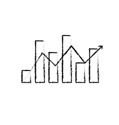 figure statistics bar diagram with arrow growing vector image