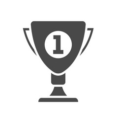 first place prize isolated on white icon vector image