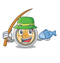 Fishing buchimgae isolated with in mascot vector