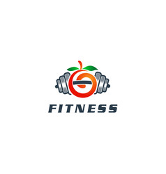fitness logo design template vector image