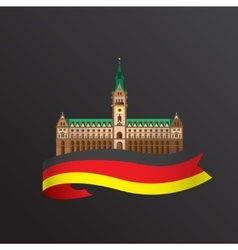 Flat icon of German Hamburg City Hall vector