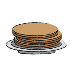 food cartoon flat draw vector image