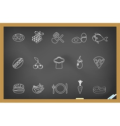 Food icon on blackboard vector image
