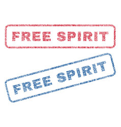 Free spirit textile stamps vector