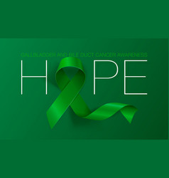 Gallbladder and bile duct cancer awareness vector