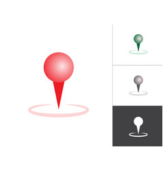 gps map pointer isolated icon map pin concept vector image