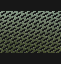 green rust metal plate with holes vector image
