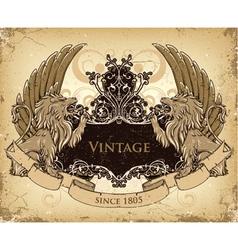 Grunge emblem vector