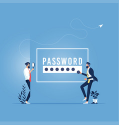 Hacking account and password concept vector