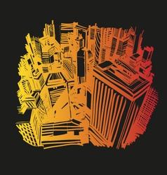 Hand drawn cityscape vector image