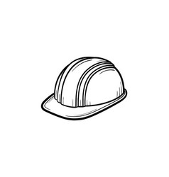 hard hat hand drawn sketch icon vector image