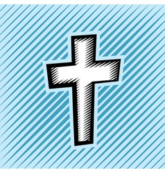 Hatched Cross vector image