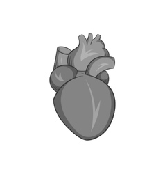 Heart human icon black monochrome style vector