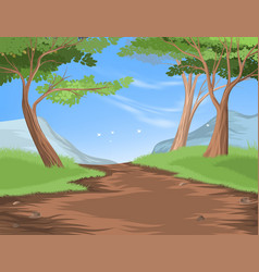 Hiking trail vector