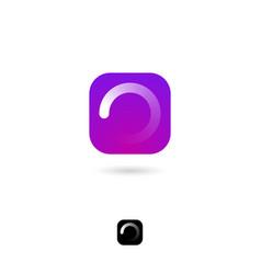 Icon loading white circular web vector