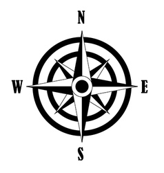 Icon of Compass rose vector
