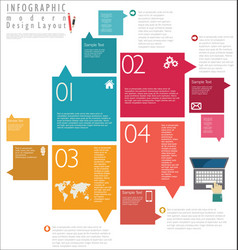 infographic modern design template 6 vector image