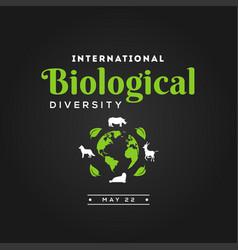 International day biological diversity design for vector