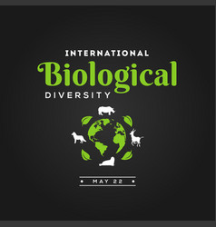 International day biological diversity design vector