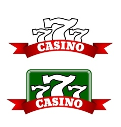 Jackpot casino icon with winning triple seven vector