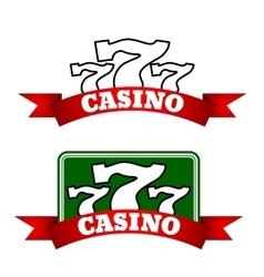 Jackpot casino icon with winning triple seven vector