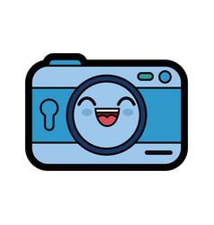 Kawaii camera icon vector