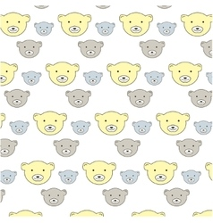 kids bears pattern vector image