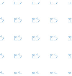 Like icon pattern seamless white background vector