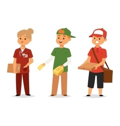 Logistics service and volunteer industry vector image