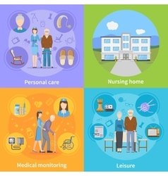 Nursing Home 2x2 Design Concept vector