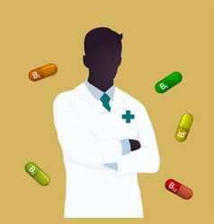 Pharmacist icon logo design vector