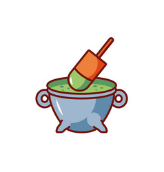 Potion bubbly witch on white background vector