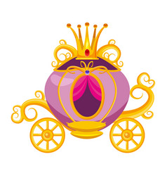 princess carriage decorated with diamonds a vector image