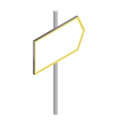 Road sign to right icon isometric 3d style vector