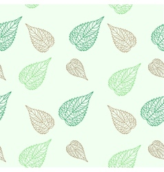 Seamless green leaves mosaic background vector