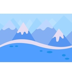 Seamless Landscape of Blue Winter Mountain vector image
