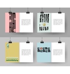 set creative hand drawn vintage cards best vector image