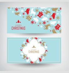 set of two christmas banners vector image
