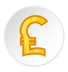 Sign of money pound sterling icon cartoon style vector