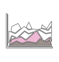 Silhouette color sections of statistical graphs in vector