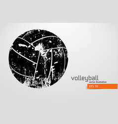 silhouette of volleyball ball vector image