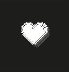 simple hearth icon vector image