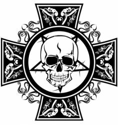 Skull and cross vector