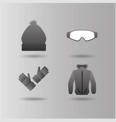 snowboarding and winter sports vector image