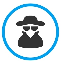 Spy Rounded Icon vector