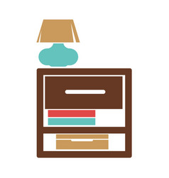 Stand with small lamp vector