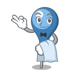 Waiter clyster mascot cartoon style vector